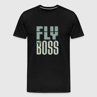 Airplane pilot traveling aviator pilot - Men's Premium T-Shirt