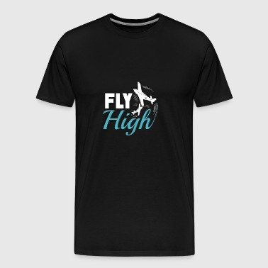 Airplane pilot vacation pilot aviator - Men's Premium T-Shirt