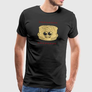 Golden Cheesecake Cheesecake - Mannen Premium T-shirt