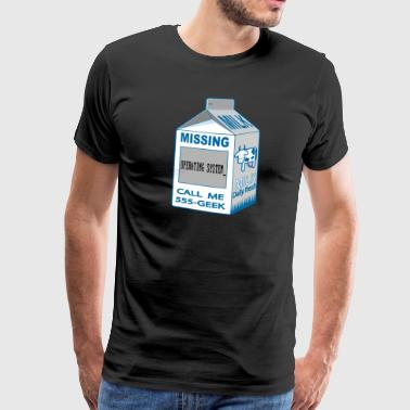 mælkekarton Missing Operating System_ - Herre premium T-shirt