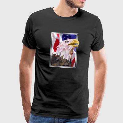 Eagle USA Amerika Seal - Herre premium T-shirt