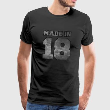 Made in 2018 College Textur - Männer Premium T-Shirt