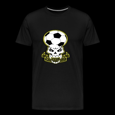 Football Skull - Premium-T-shirt herr