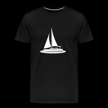 Boot Segelboot Meer Wind Segel - Mannen Premium T-shirt