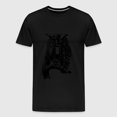 Coffee Owl black - Men's Premium T-Shirt