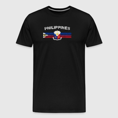 Filipino Flag Shirt - filippinsk Badges & filippinske - Herre premium T-shirt