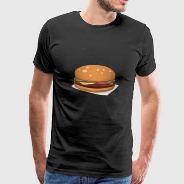 cheeseburger - Herre premium T-shirt