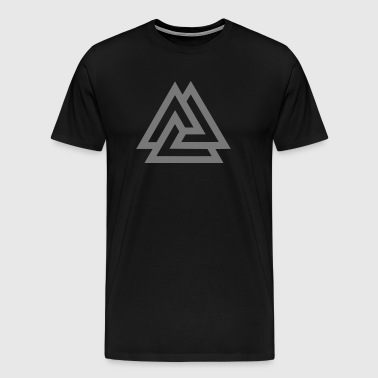 Valknut, Odins Knot, 9 Worlds of Yggdrasil - Men's Premium T-Shirt