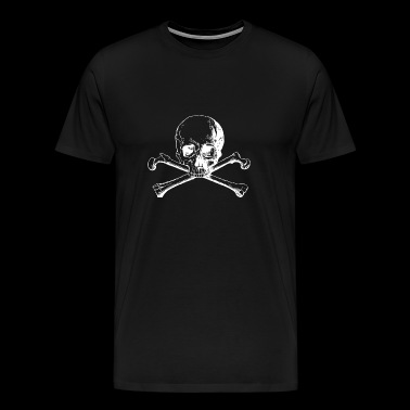 Skull and Bones Cross - Premium-T-shirt herr