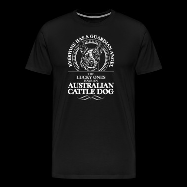 GUARDIAN ANGEL AUSTRALIAN CATTLE DOG - Men's Premium T-Shirt