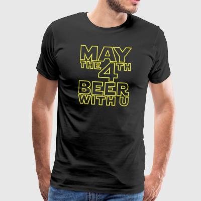 May the 4th beer with you - Funny T-Shirt - Männer Premium T-Shirt
