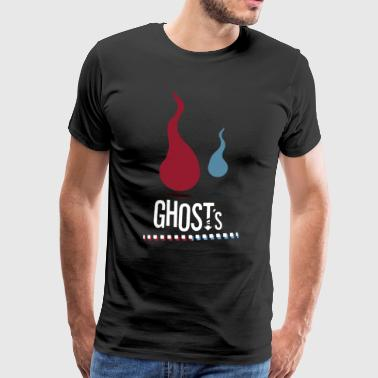 Soul Ghost Spirit GHOST's | Red and blue - Men's Premium T-Shirt