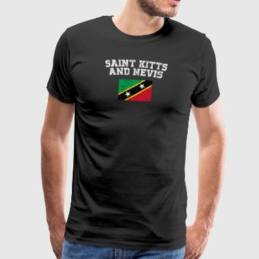 Kittian Flag skjorte - Vintage Saint Kitts og Nevis - Premium T-skjorte for menn