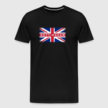Nottingham Shirt Vintage United Kingdom Flag - Premium-T-shirt herr