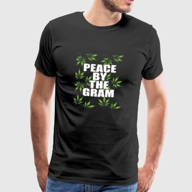 PEACE BY THE GRAM KIFFEN CANNABIS DANCE PEACE - Men's Premium T-Shirt