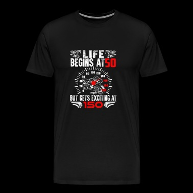 Birthday Superbike · 50 years · Shirt · Speedometer - Men's Premium T-Shirt