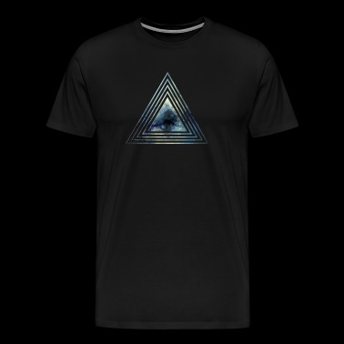 Space Triangle Blue AllroundDesigns - Men's Premium T-Shirt