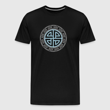 Celtic Shield Knot, Protection, Four Corner, Norse - Men's Premium T-Shirt