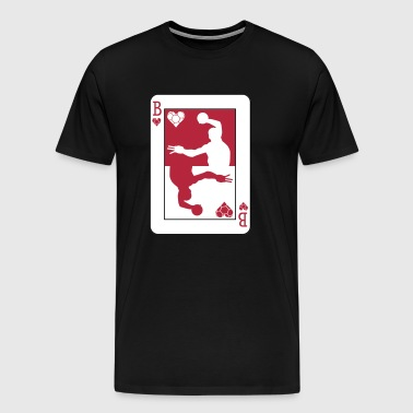 Handball Poker Card - Premium-T-shirt herr