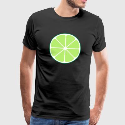 Lemon lime orange tricolor - Men's Premium T-Shirt