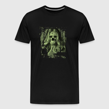 Skull girl green - Men's Premium T-Shirt