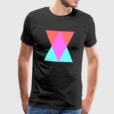 Red and Blue Mixing Triangles - Herre premium T-shirt