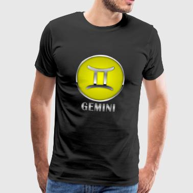 Zodiac sign Gemini // gemini - Men's Premium T-Shirt