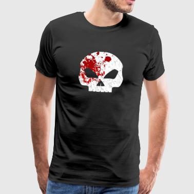 Bloody Skull - bloody skull head Halloween blood - Men's Premium T-Shirt