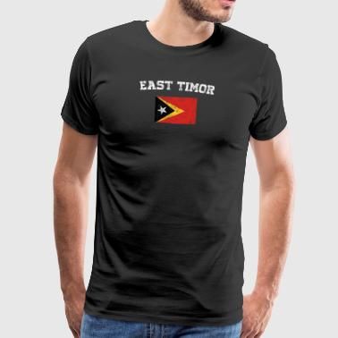 Oost-Timorese Flag Shirt - Vintage Oost-Timor T-Sh - Mannen Premium T-shirt