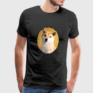 Shiba Inu dog cute portrait - Men's Premium T-Shirt