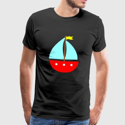 paddle boat sail boat rowing boat sailboat65 - Men's Premium T-Shirt
