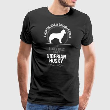 SIBERIAN HUSKY Guardian Angel Wilsigns - Männer Premium T-Shirt