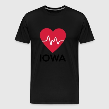 heart Iowa - Men's Premium T-Shirt