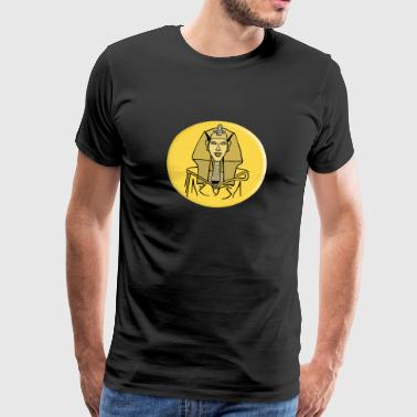 Akhenaten, Sun King in ancient Egypt - Men's Premium T-Shirt