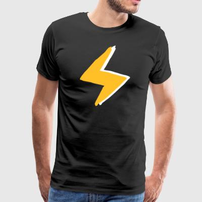 Lightning with super - forces costume - Men's Premium T-Shirt
