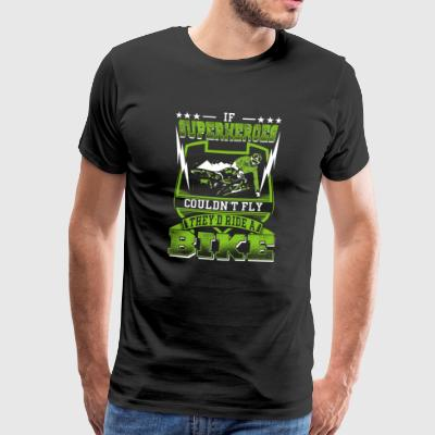Superheroes ride bikes - Men's Premium T-Shirt