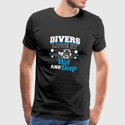 Funny Diving Diver Dive Shirt Divers Love It - Maglietta Premium da uomo