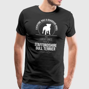 STAFFORDSHIRE BULL TERRIER Guardian Angel Wilsigns - Men's Premium T-Shirt
