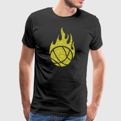 Basketball Flame Ball Ballsport Sports Fire Hot - Men's Premium T-Shirt