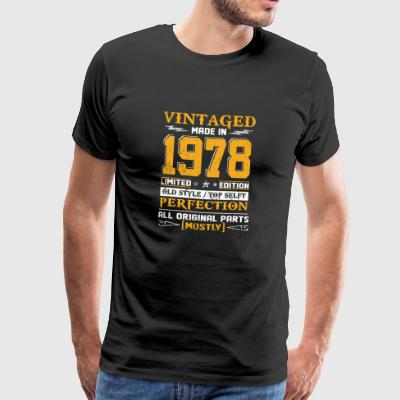 Vintaged Made In 1978 Limited Editon - T-shirt Premium Homme