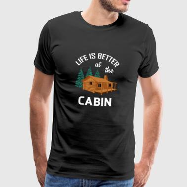 ++ At the Cabin ++ Nature Camping Hiking Gift - Men's Premium T-Shirt