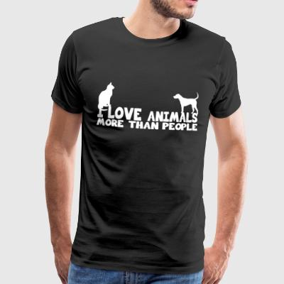i love animals more than people shirt - Men's Premium T-Shirt