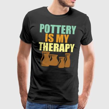 Pottery is Therapy - Men's Premium T-Shirt