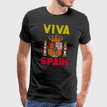 Sense of life Spain vintage gift emblem Madrid - Men's Premium T-Shirt