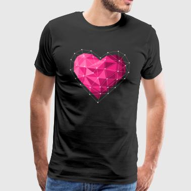 Ruby heart Valentine's Day - Men's Premium T-Shirt