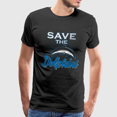 Dolphin Save the Dolphins Gift Ocean Water - Mannen Premium T-shirt
