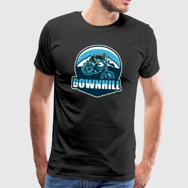 Downhill MTB Logo - Men's Premium T-Shirt
