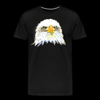 gxp eagle skaldet ørn pop illustration - Herre premium T-shirt