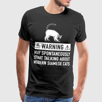 Funny Modern Siamese Cat Gift Idea - Men's Premium T-Shirt