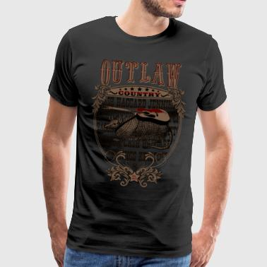 Outlaw Country Americana (Armadillo with guitar) - Men's Premium T-Shirt